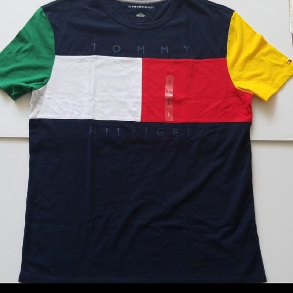 Polos TOMMY HILFIGER Mens POLO T SHIRT all sizes NWT blue green yellow red white